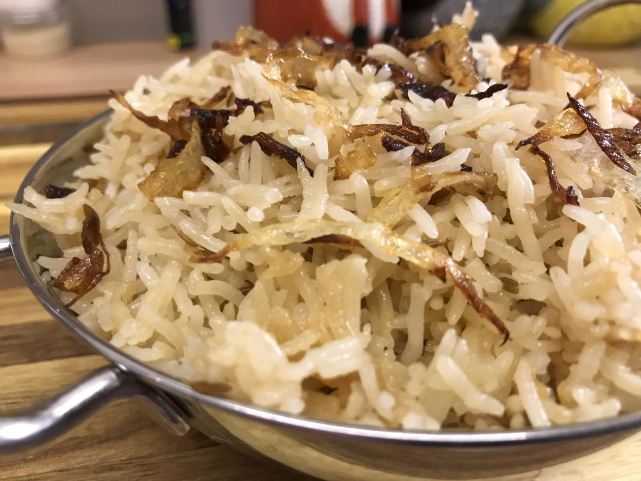 Onion Pilau Rice (made from scratch)