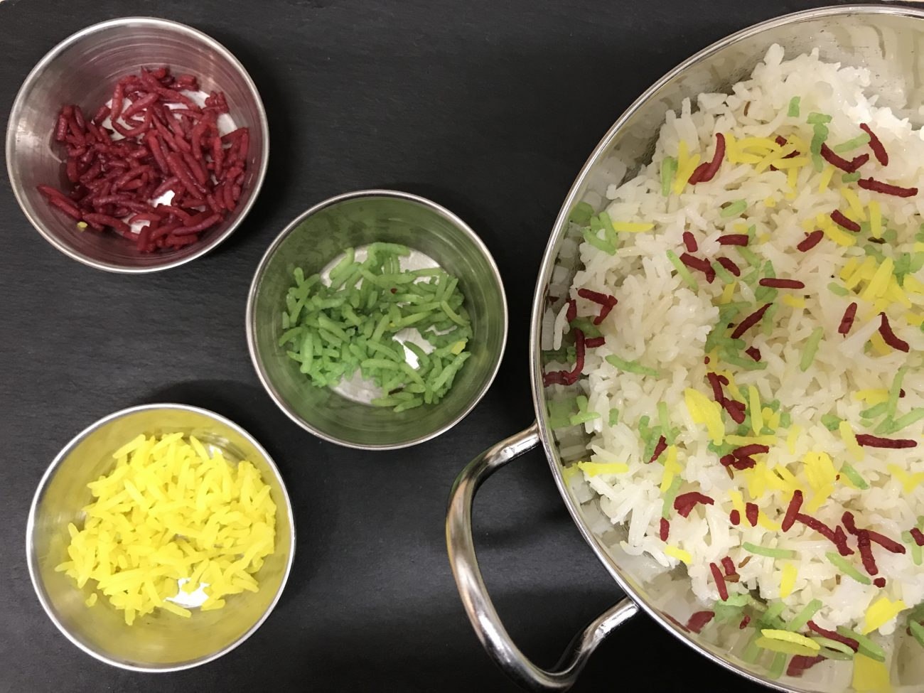 Colouring Pilau Rice