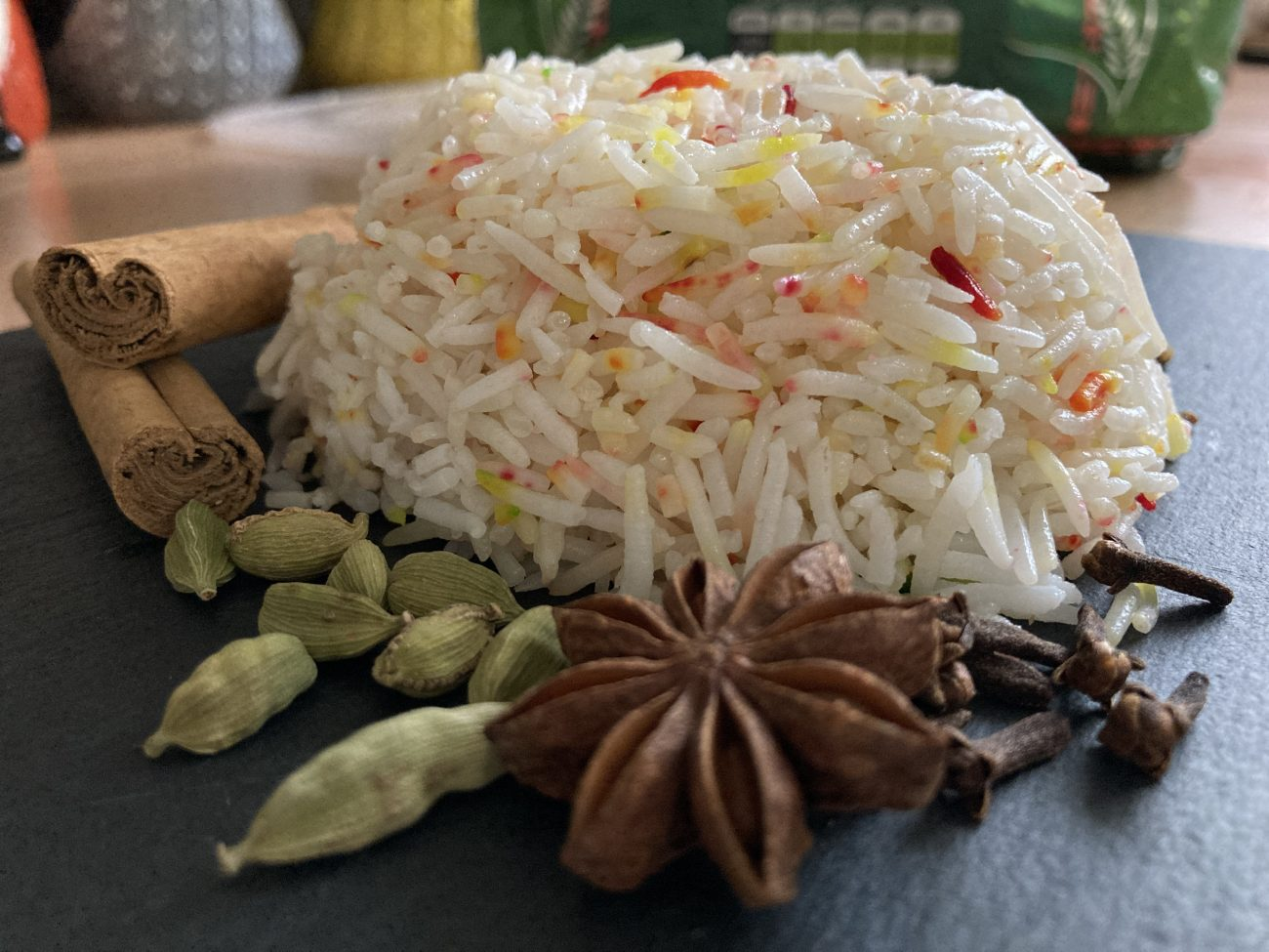 Fragrant Basmati Pilau Rice from scratch (British Indian Restaurant / BIR Style)