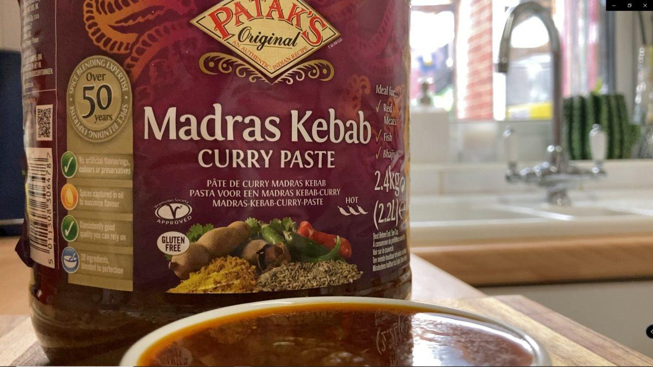 Homemade Pataks Madras Kebab Curry Paste