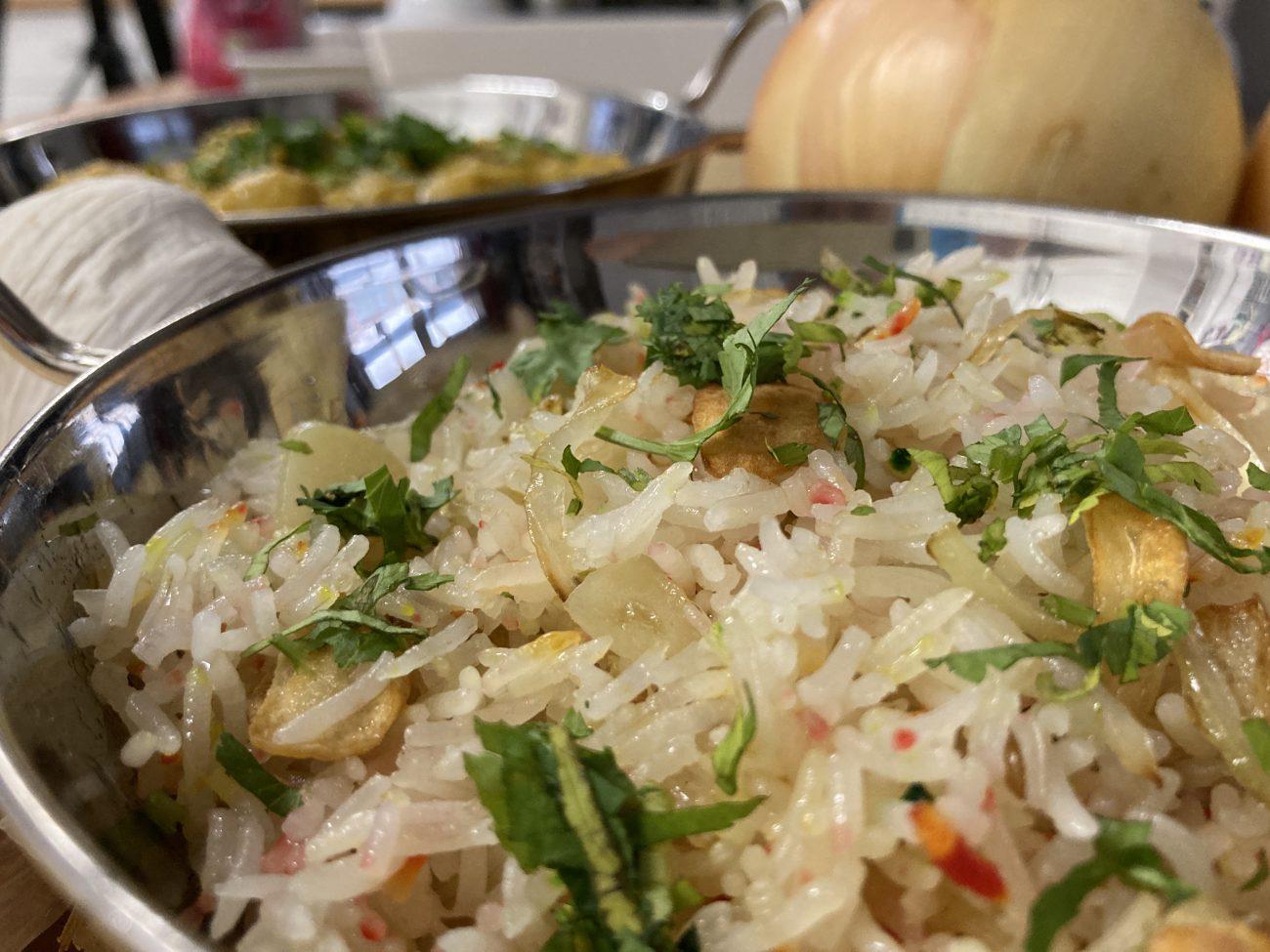Garlic Pilau Rice